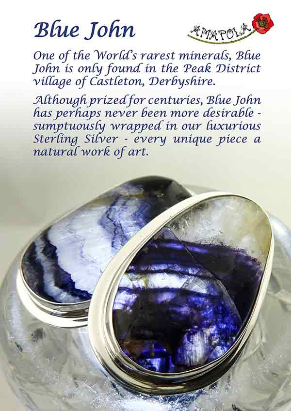 Blue John A4 Display Sign